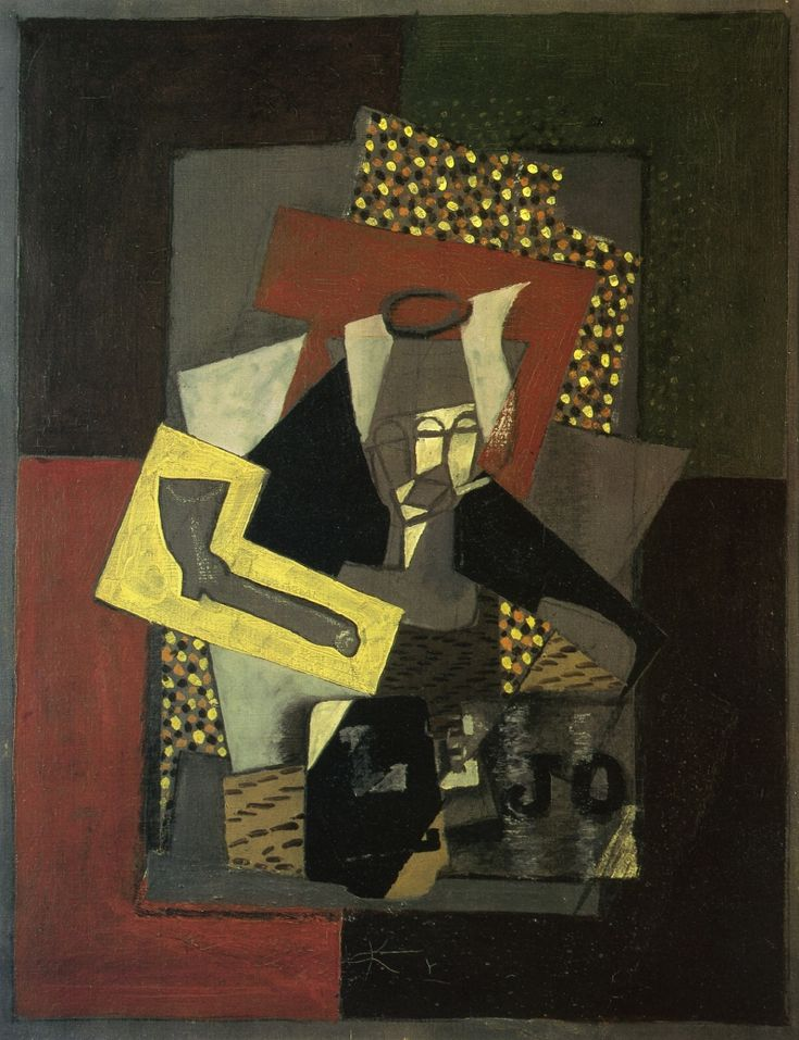 GEORGES BRAQUE Glass, Pipe and Newspaper (1917)