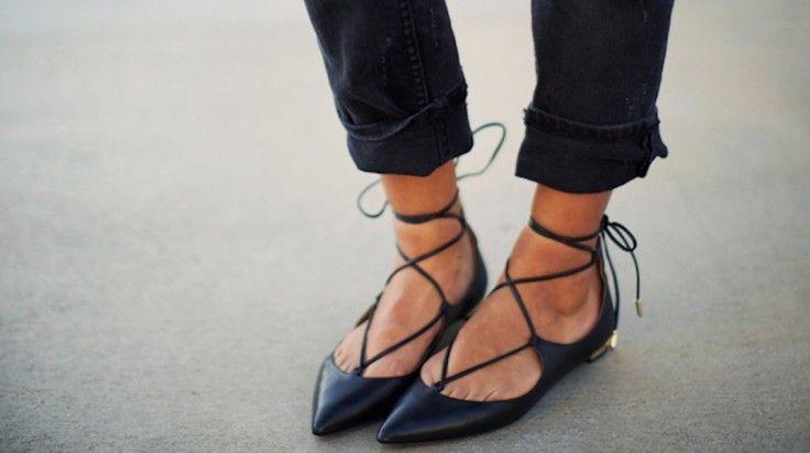 Bailarinas con cordones