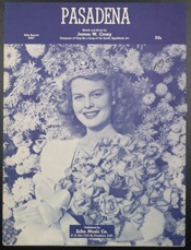"""Old sheet music for the 1949 re-make of the 1924 song """"Pasadena"""""""