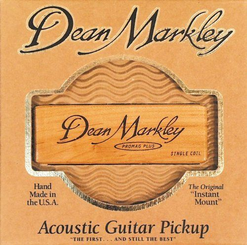 Dean Markley Strings ProMag Plus Pickup by Dean Markley. $34.06. Dean Markley pickups are the number one choice of many top performing acoustic guitarists. The single coil Pro Mag Plus delivers responsive, warm tone with crystal-clear highs; natural sounding midrange; and smooth, round bass. Natural curly maple design enhances any acoustic guitar. Handmade in the USA.