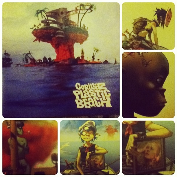 Gorillaz - Plastic Beach - 2LP (2010) Probablemente el mejor y más ecléctico disco pop del mainstream dosmilero. A diferencia de la mayoría de los discos donde abundan las colaboraciones estelares, en esta placa Lou Reed y Snoop Dog (entre otros)  no son convocados para la anécdota o el tributo y se disponen a las ordenes de la pandilla de 2D creando una colección de canciones de una frescura irresistible: Por ejemplo: http://youtu.be/sH6y2gNbN68