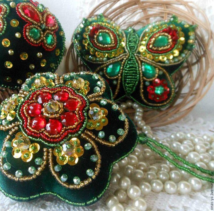 Купить ЛЕТНИЙ ПРИВЕТ елочные украшения с вышивкой - елочные игрушки, елочные украшения
