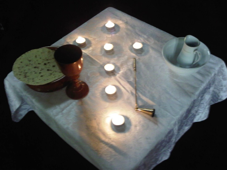Maundy Thursday service at Ashgrove West Uniting Church. (Brisbane Australia.)