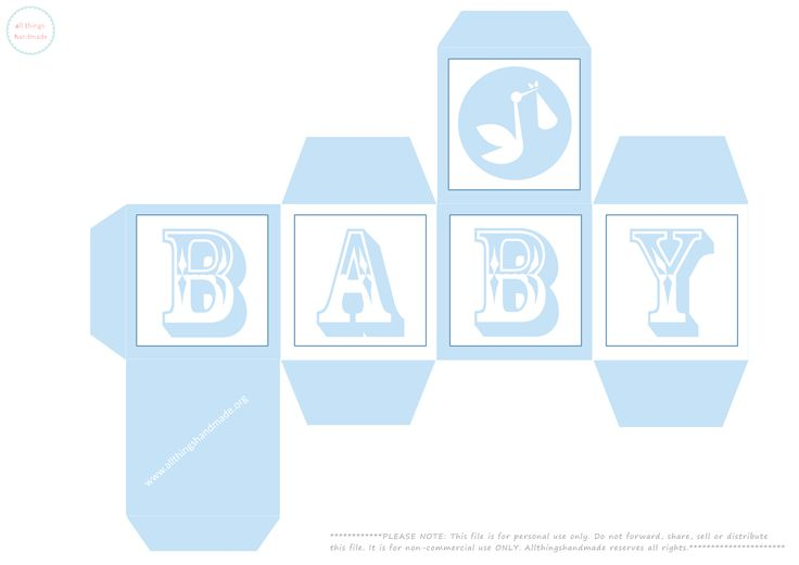 Baby Shower Favour Boxes - Free Printable