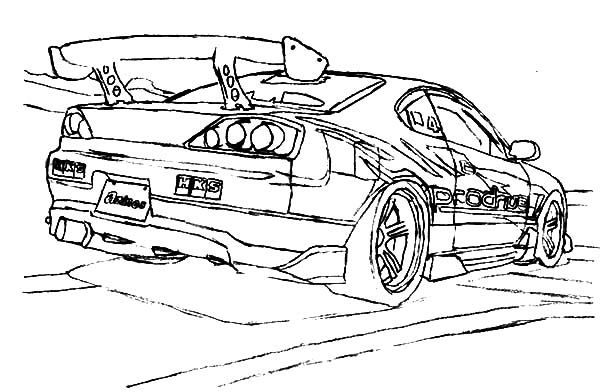 Drifting Cars S15 Cars Drifting Trace Coloring Pages Cars Coloring Pages Drifting Cars Coloring Pages