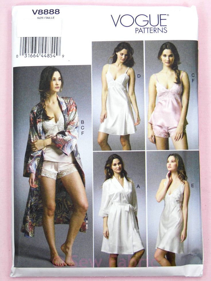 Vogue V8888 Sewing Pattern Misses' Robe, Camisole, Slip & Panties - Easy to Sew