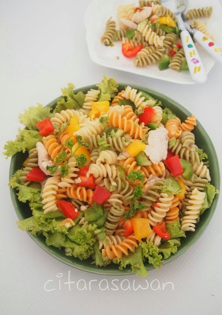 Salad Pasta Ayam | Resipi Citarasawan