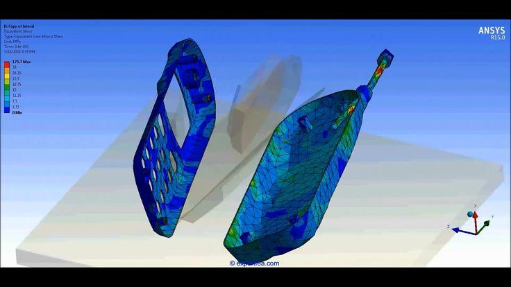 ANSYS Workbench Explicit Dynamics Drop Test of a vintage cellphone falli...
