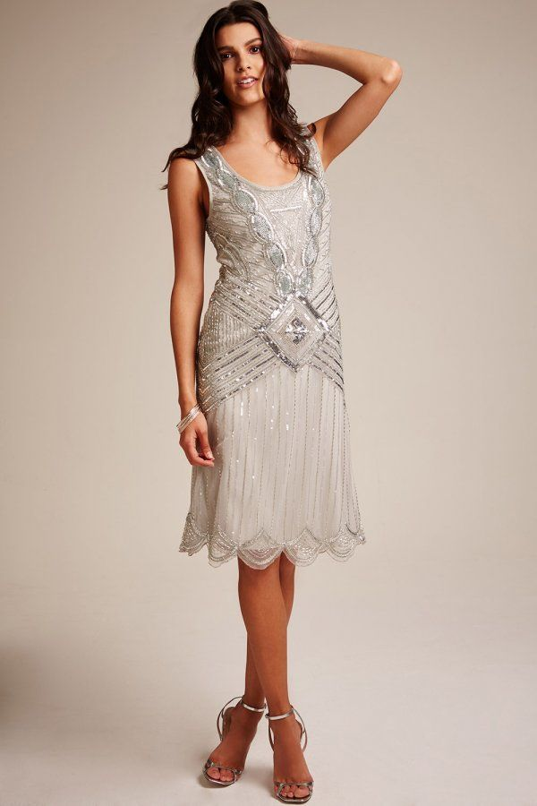Frock and Frill Frock and Frill ice grey highneck embellished dress - Frock And Frill from Little Mistress UK