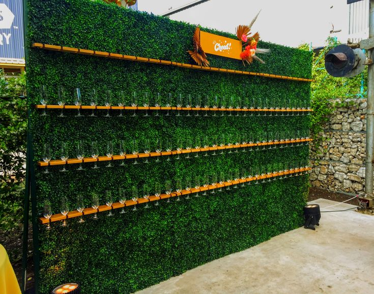 The HOTTEST rental item of the season is our Topiary Wall