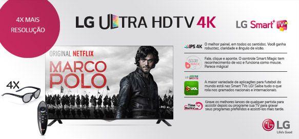 """Smart TV 3D LED 55"""" Ultra HD 4K LG 55UB8300"""