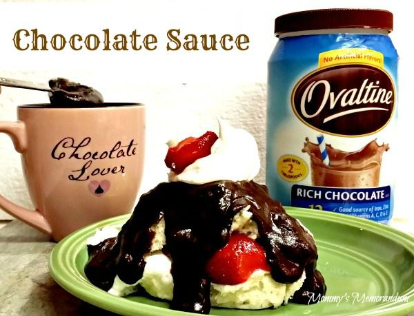 This Chocolate Sauce or, as they call it in the South, gravy,  at our house is like heaven on a spoon. It's rich and creamy taste and texture satisfies hunge