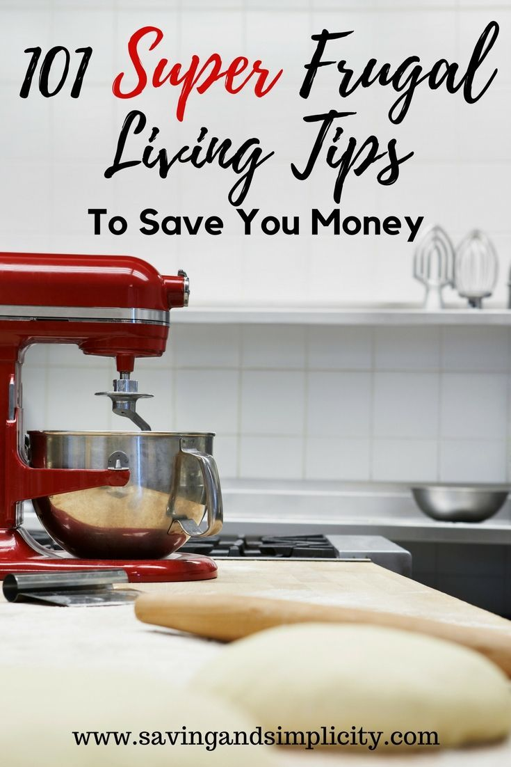 101 Super frugal living tips to help you save money on your home expenses.