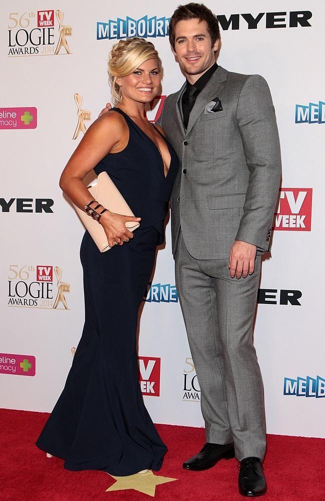 Bonnie Sveen and Kyle Pryor, TV Week Logie awards 2014