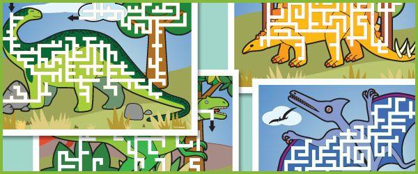 Dinosaur Maze Puzzles