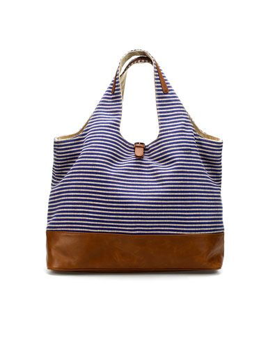 zara: Summer Fashion, Heavens Handbags, Linens Shopper, Linens Totes, Zara Linens, Beaches Bags, Stripes Linens, Shopper Zara, Hands Bags