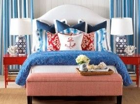 Beach House Decorating | Nautical Home Interiors: Bedroom Ideas |