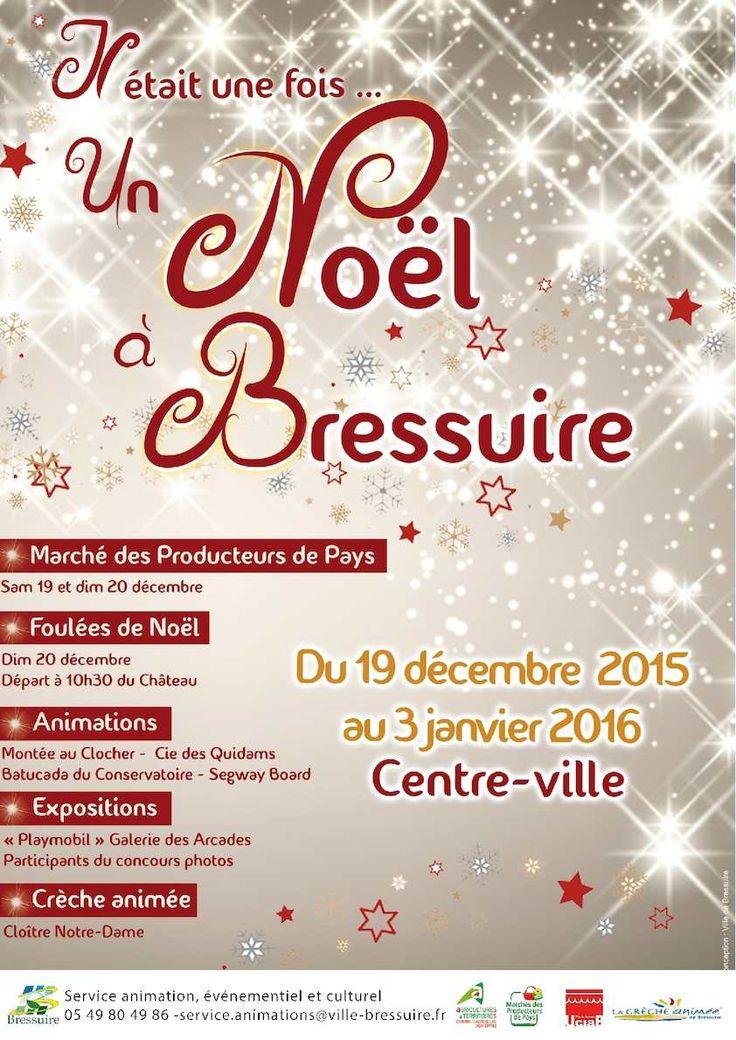 Comme chaque année, le service animation, événementiel et action culturelle de la ville de Bressuire coordonne les festivités de Noël ! Rendez-vous ce week-end 19 et 20 décembre. Programme complet ci-dessus