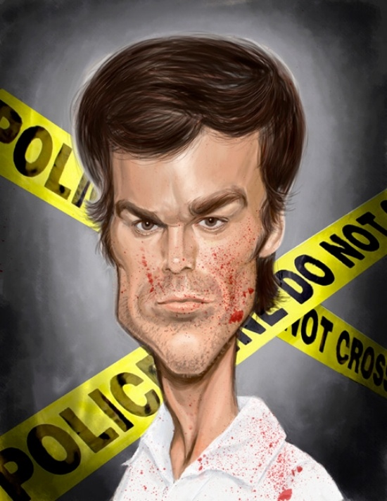 Celebrity Caricatures - Dexter