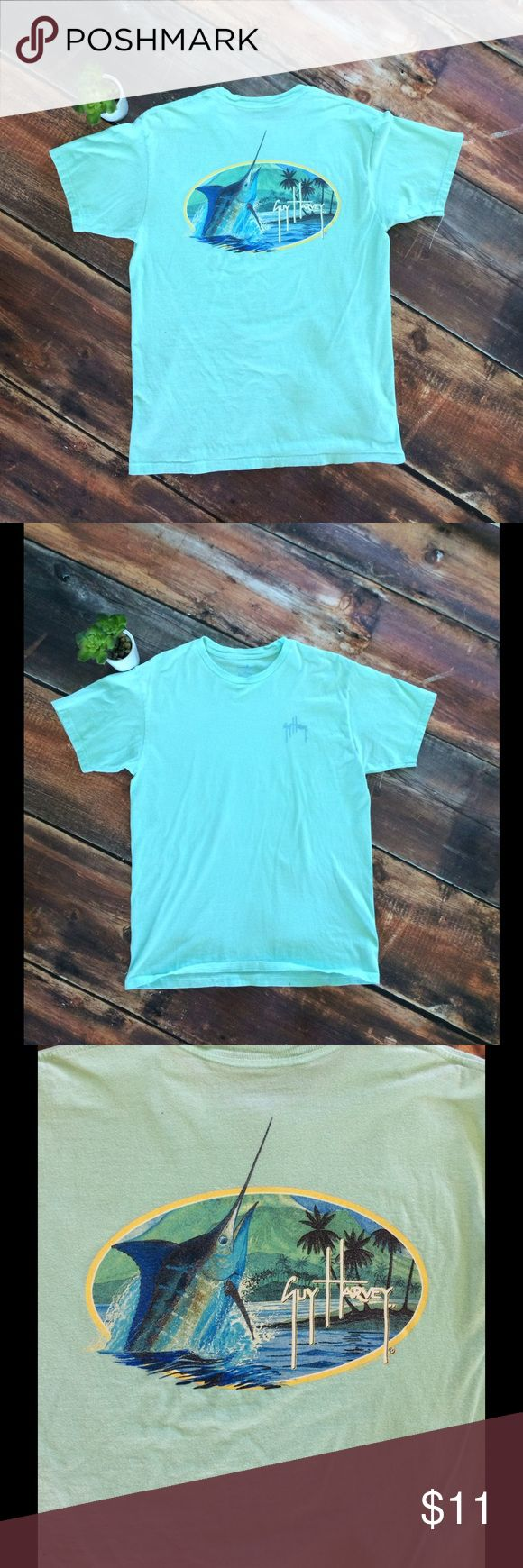 Guy Harvey men's light turquoise t shirt Guy Harvy mens light aqua blue tee shirt guy harvey Shirts Tees - Short Sleeve