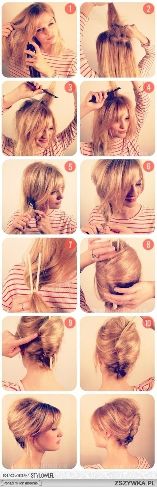 Such a pretty up-do! French twist how-to. Perfect!