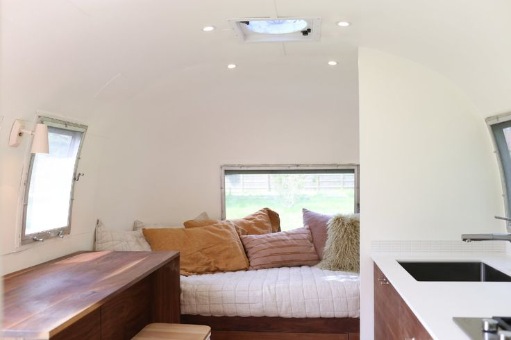 Photo 7 Of 17 In A Design Duo Give This 98 Square Foot Airstream