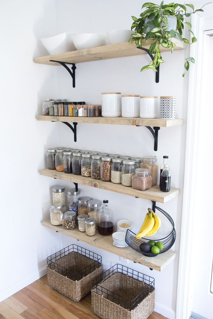8 Tips For Creating Successful Open Shelving (and A Pantry