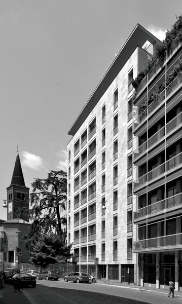 Casa del Cedro, Giulio Minoletti, 1951-1957, via Fatebenefratelli 3, Milano (Foto di Stefano Suriano)