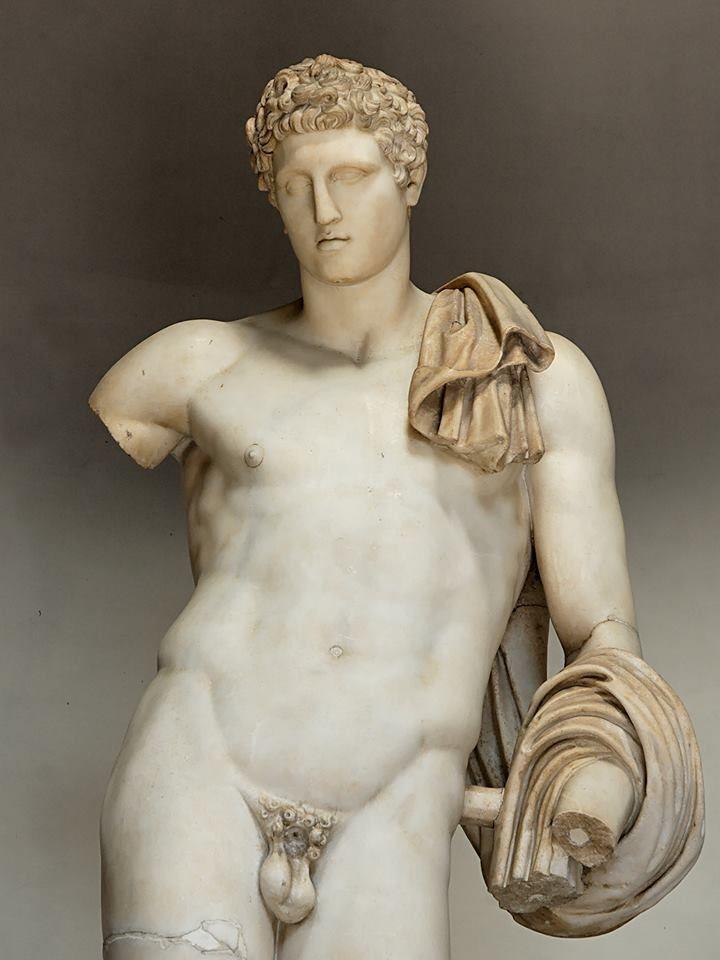 Belvedere Antinous, roman artwork, Hadrian's era. Musei Vaticani.