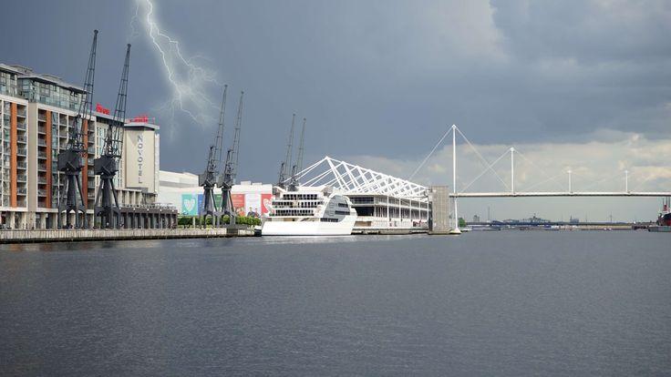 #architecture #bay #boat #bridge #bright #buildings #city #cityscape #clouds #dark #dock #energy #flash #harbor #harbour #industrial #landscape #light #lightning #maritime #nautical #ocean #pier #port #rain #river #sea #shi
