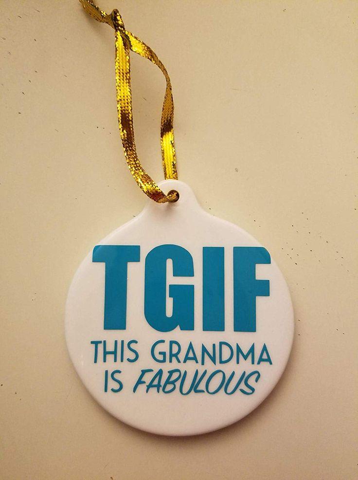 Grandma Christmas Ornament Grandma christmas ornament