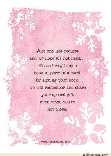 winter girl baby shower invitations - Google Search