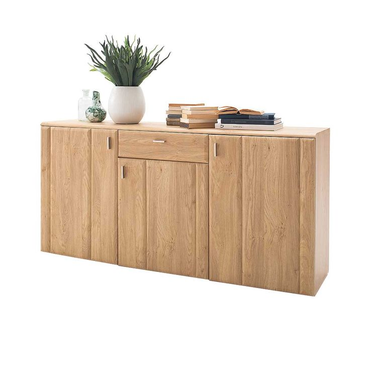 wohnzimmer sideboard in eiche 180 cm breit jetzt bestellen. Black Bedroom Furniture Sets. Home Design Ideas