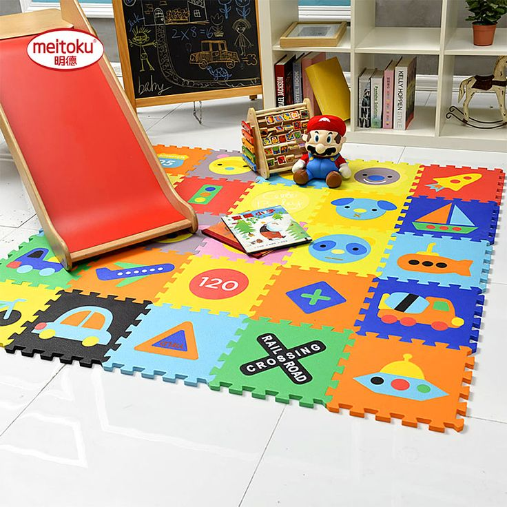 ==> [Free Shipping] Buy Best New!Meitoku Baby EVA Play Puzzle Floor MatChildren Interlocking Tiles ToyKids Rug and Carpet.Each:30x30cm Thick 14mm(no edge) Online with LOWEST Price | 32789766957