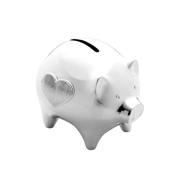 Discover the Vera Wang for Wedgwood Grosgrain Silverplate Baby Piggy Bank at Amara