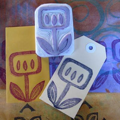 Ro Bruhn Art: Hand carved stamps