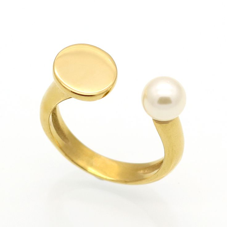 2017 New Top Quality Fashion Brand Love Jewelry Freshwater Pearl Rings Gold Plated Black Agate Nail Ring For Women
