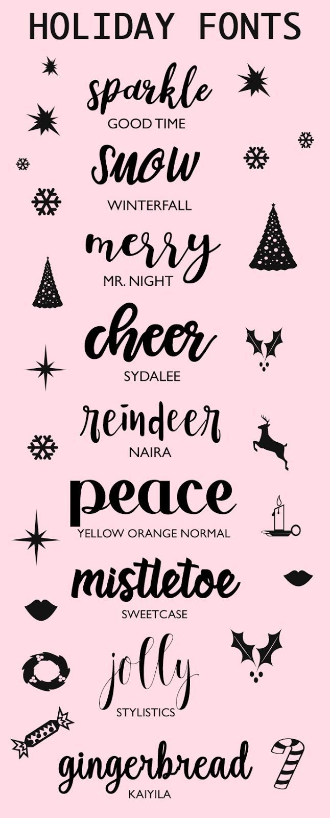 A Bubbly Life: Fonts To Make You Holidays Sparkle