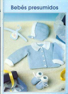 Manetes d'Or: Chaquetitas de punto para bebés. Patrones