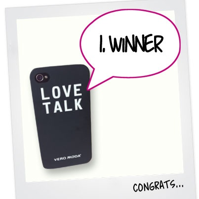 "1. WINNER IS FOUND! Congratulations to Eva Steffenhagen, you are the first to win an exclusive iPhone cover.  The contest continues - We still need 4 more winners. To enter the contest 1) Login to PINTEREST and follow veromodafashion and 2) re-pin the official contest pin; ""RE-PIN TO WIN"""