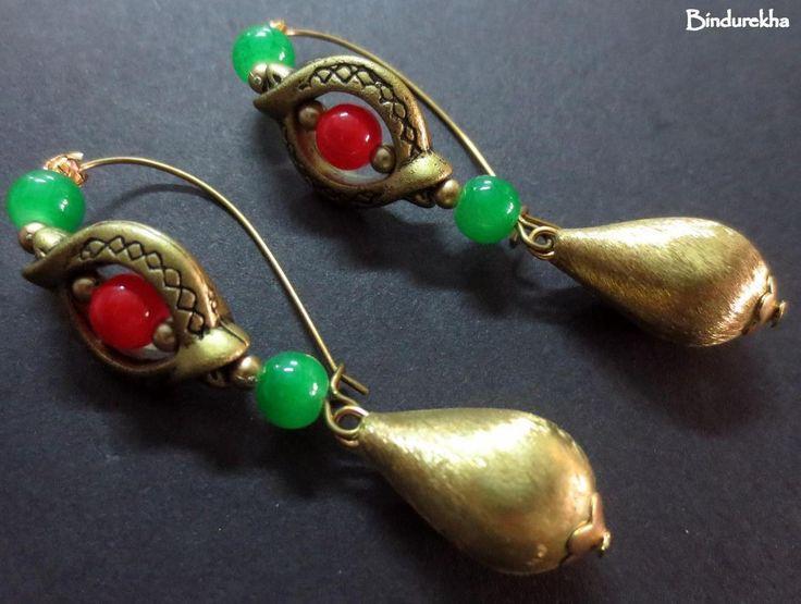 Red_Green_Brass_Drop_Inline_Earrings