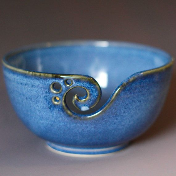 """Yarn Bowl / Knitting Bowl...this would transform my leaving a current project on the kitchen table from """"clutter"""" to """"art"""". Forget a bowl of lemons. A bowl of yarn would be my centerpiece"""