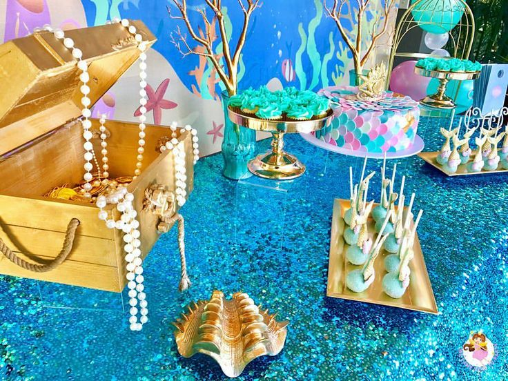 """13 Likes, 1 Comments - We Came Here To Party (@wecameheretopartyaus) on Instagram: """"🐠Welcome to Nevaeh's 7th birthday🐠 Mum Rebecca wanted the classic mermaid theme party for the…"""""""