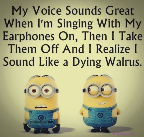 Funny Minion Quotes About Music