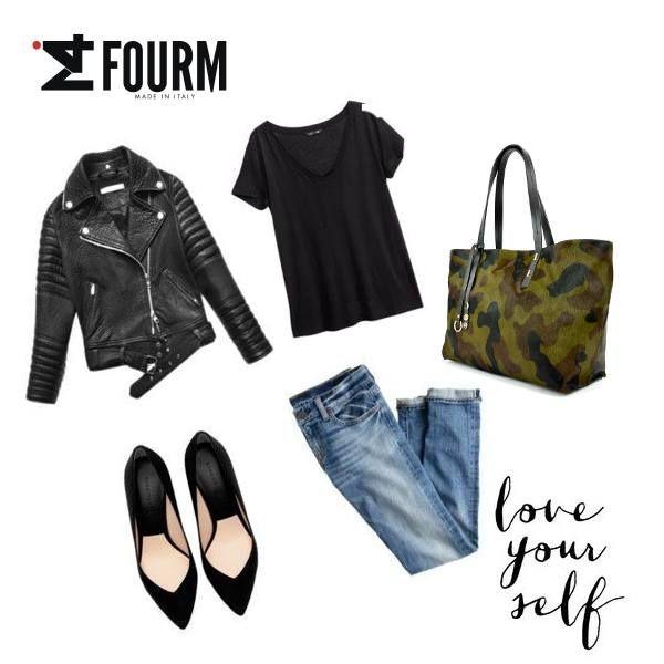 #iFourMlook of the day! M I N I M A L Perfetto con la nostra shopper mimetica, di carattere! Al 30% di sconto... www.ifourm.it