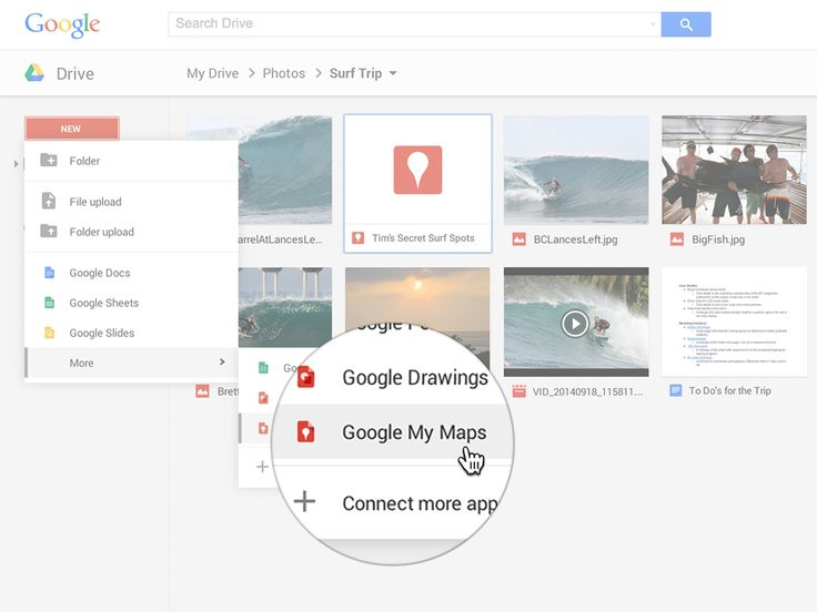 Google My Maps is a new tool for creating custom Maps within Drive