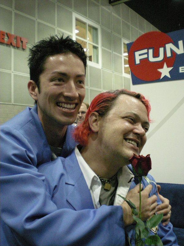 Todd Haberkorn (Hikaru) and Greg Ayers (Kaoru) cosplaying for Ouran Highschool Host Club!