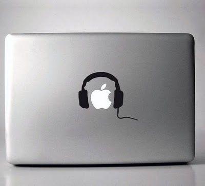 headphone mac laptop sticker