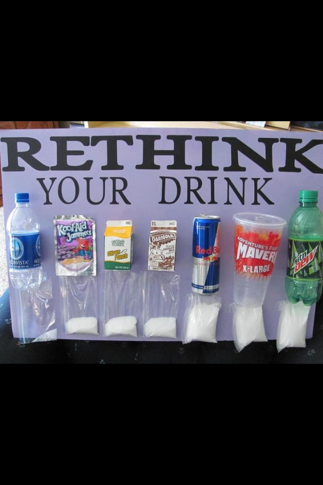 This is why I don't have these drinks in our home (other than water) and don't want my children drinking them......
