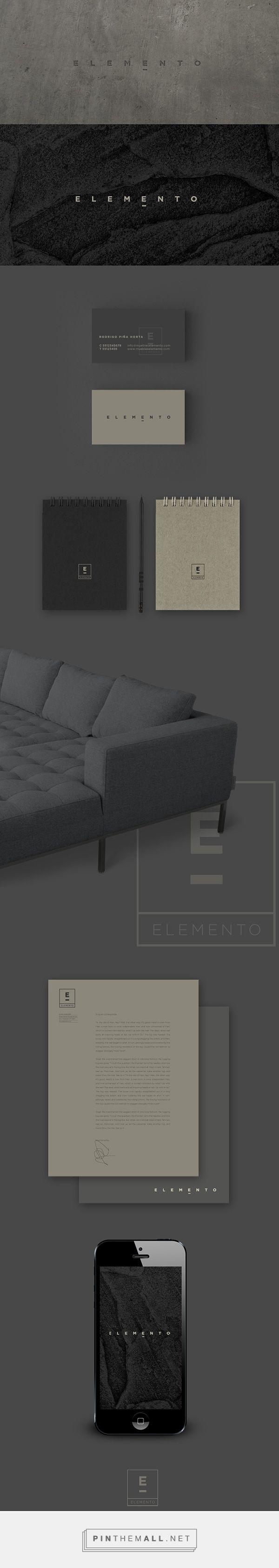 ELEMENTO Furniture Design Studio Branding by Alejandra Astiazarán   Fivestar Branding Agency – Design and Branding Agency & Curated Inspiration Gallery